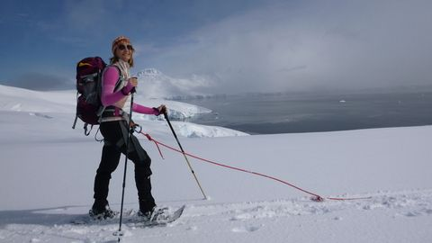 Snowshoeing in Antarctica with Aurora Expeditions